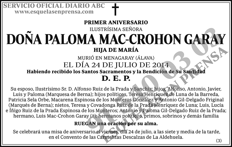 Paloma Mac-Crohon Garay